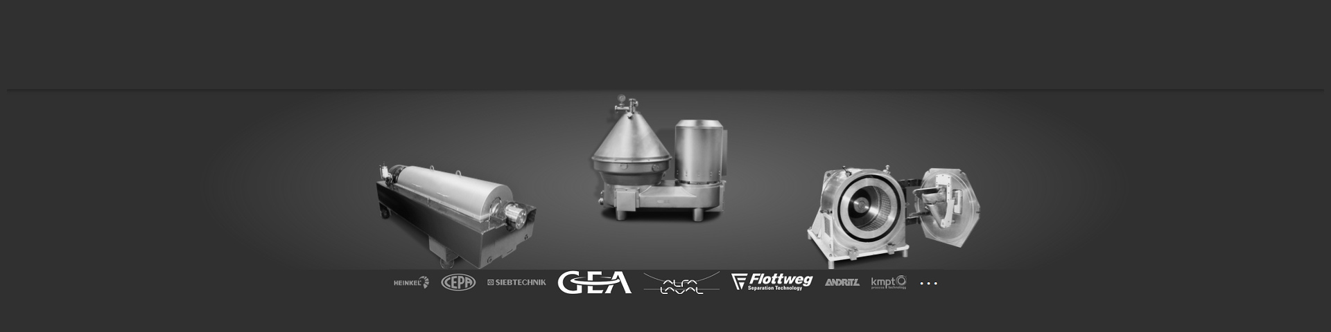 Full-service supplier of separators, decanters and centrifuges