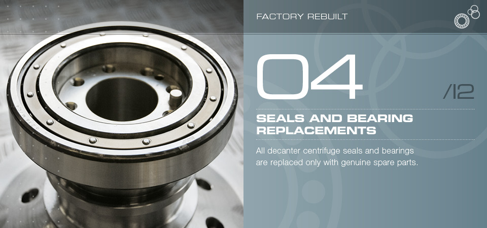 Seals and bearing replacements